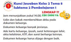 Kunci Jawaban Kelas 2 Tema 8 Subtema 2 Pembelajaran 1 www.simplenews.me