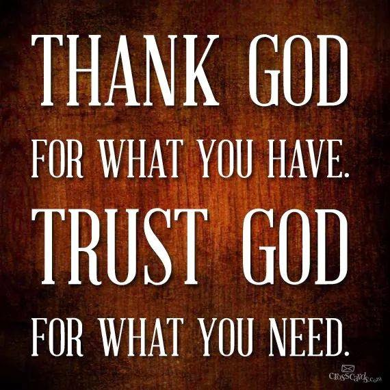 Thank and Trust God