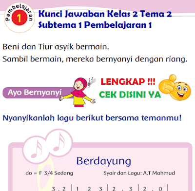 Kunci Jawaban Kelas 2 Tema 2 Subtema 1 Pembelajaran 1 www.simplenews.me