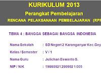 RPP Kelas 5 SD  KK 2013 Semester 1 dan 2 Revisi 2018