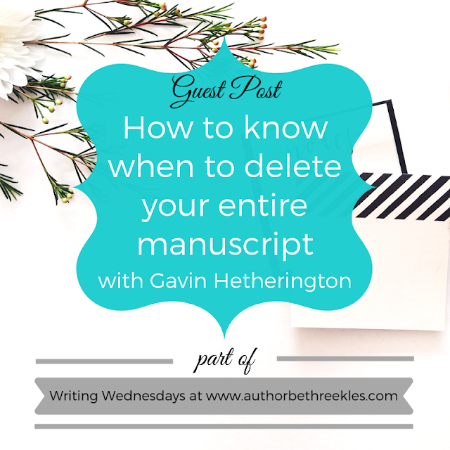 In this special guest post, Wattpader Gavin Hetherington shares his writing advice on knowing when to delete your entire manuscript.