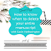 Guest Post! Writing Wednesdays: How to know when to delete your entire manuscript - with Gavin Hetherington