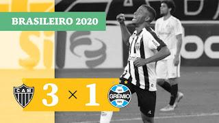 Gols – Atlético-MG 3 x 1 Grêmio – Internacional 1 x 1 São Paulo – Athletico 1 x 0 Bahia