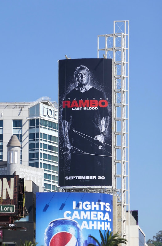 Rambo Last Blood film billboard