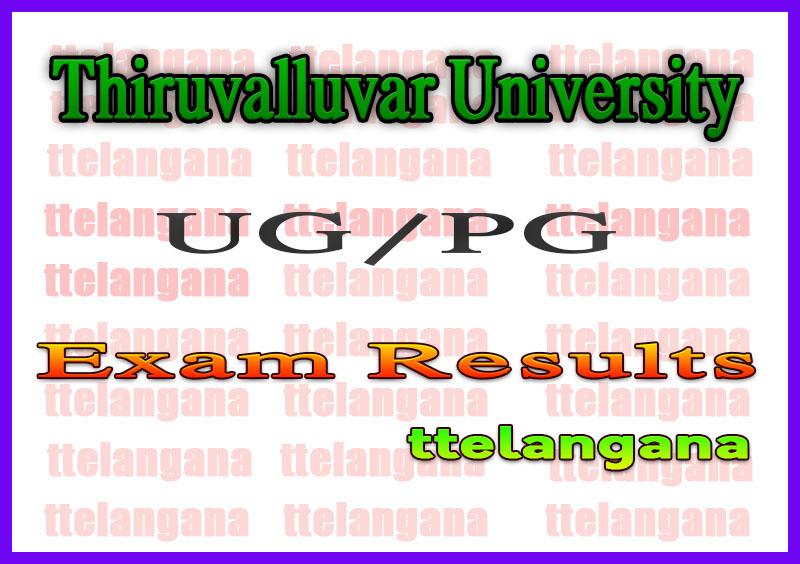 Thiruvalluvar University Exam Results