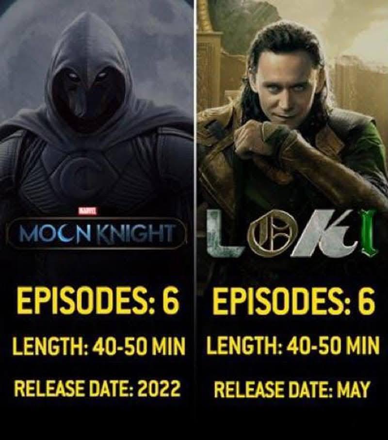 Marvel D+ Series :「ファルコン&ウィンター・ソルジャー」「ロキ」「ムーン・ナイト」は計6話、「シーハルク」は計10話‼️