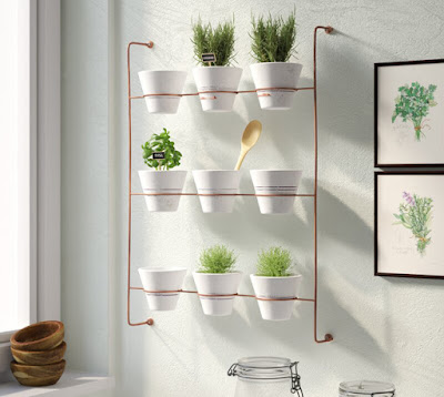 wall planter, vertical wall planter, clay hanging planters, wall garden