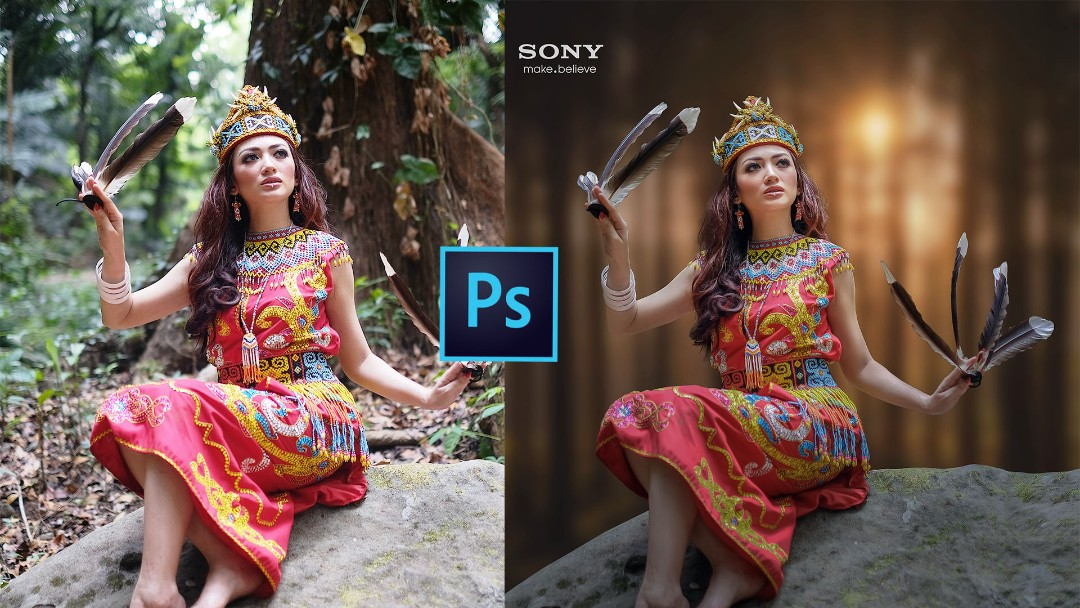 Edit Foto Model Dayak - Alvian Indonesia