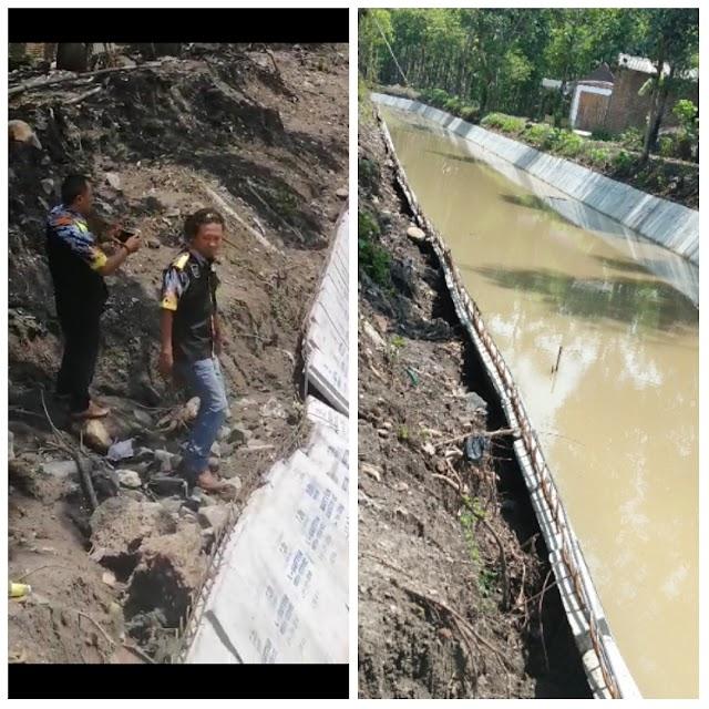 Proyek L-Gutter di Desa Wono Ayu Kemungkinan Pengerjaannya Asal Jadi