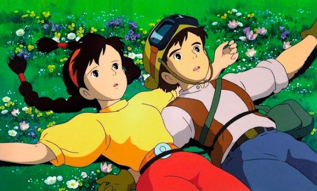 Los protagonistas de la película de animación de Studio Ghibli, El Castillo en el Cielo