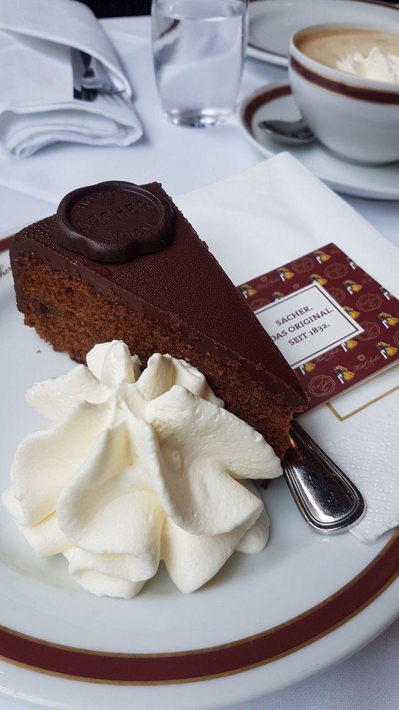 cafe cake sacher vienna austria