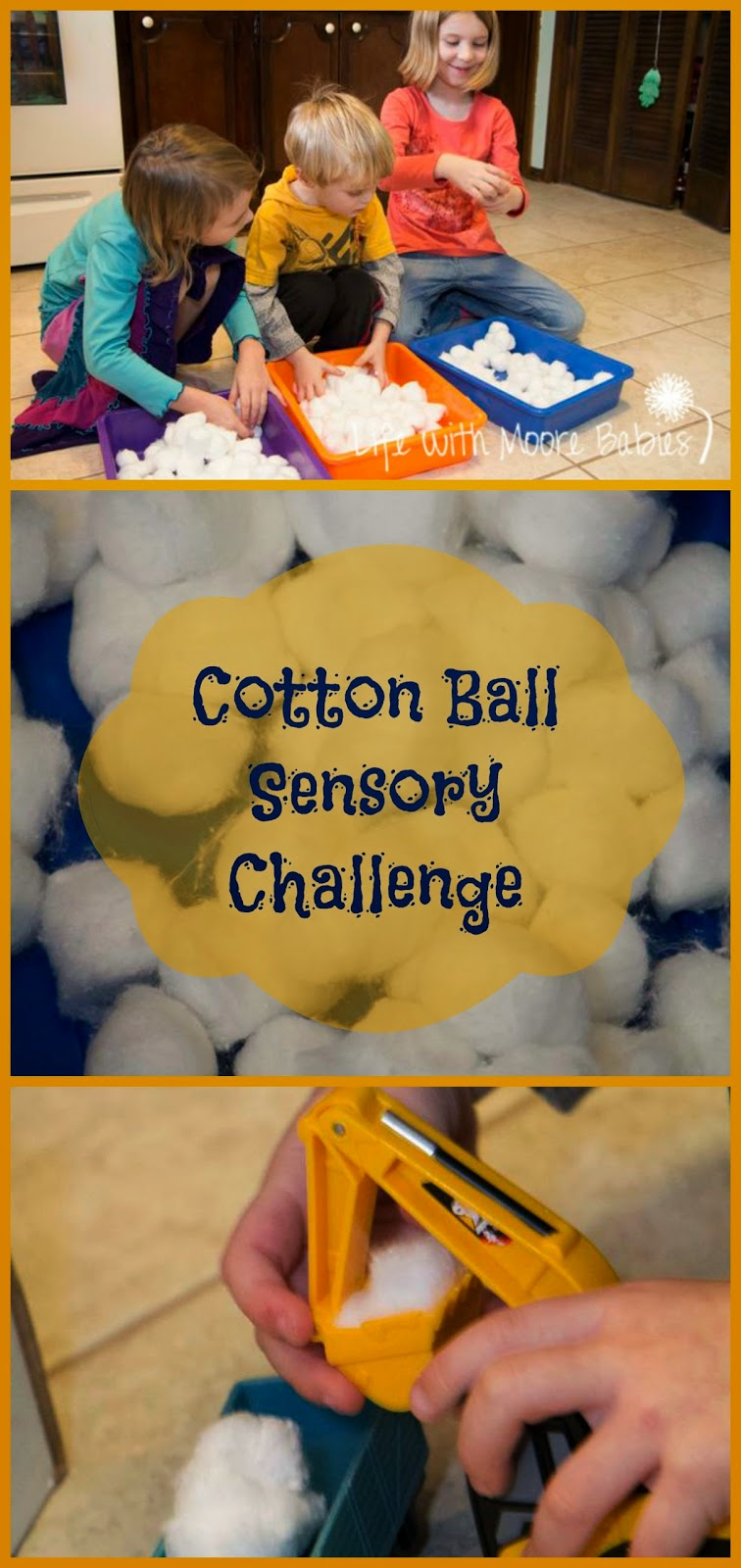 Cotton Ball Sensory Challenge