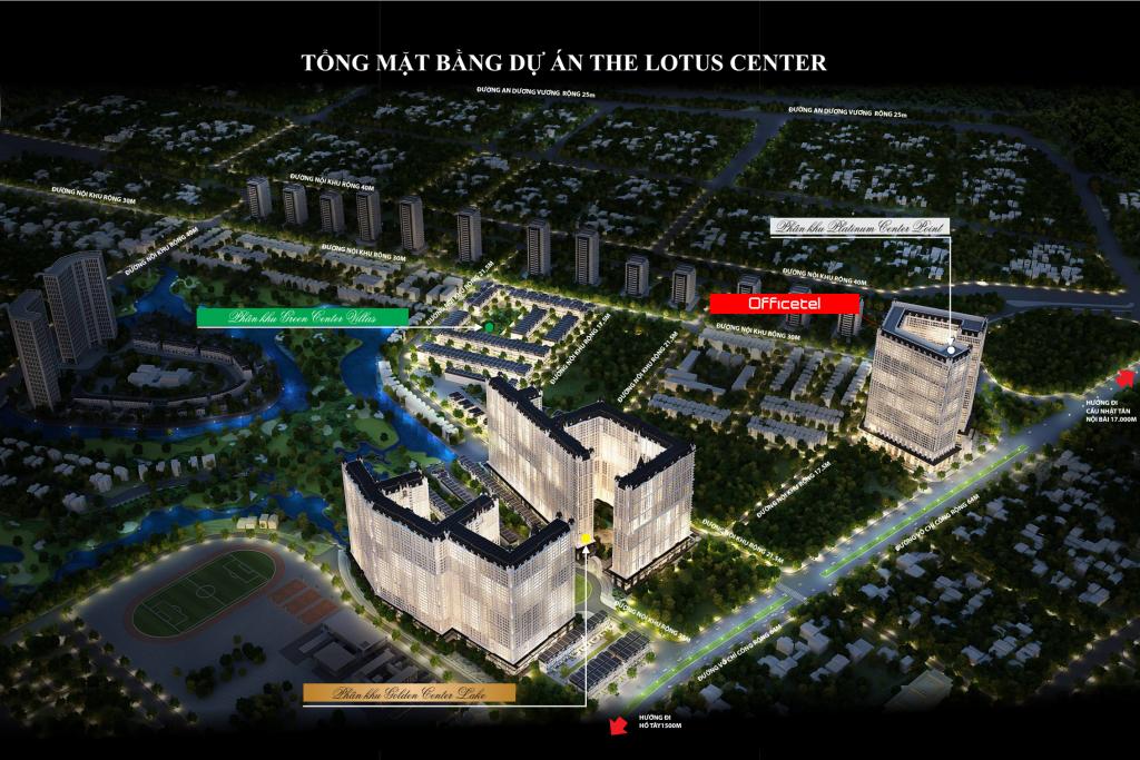 Phối cảnh tổng thể dự án Lotus Center
