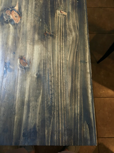 Vintage Paint and more... DIY wood table top stained for a thrift store kitchen table