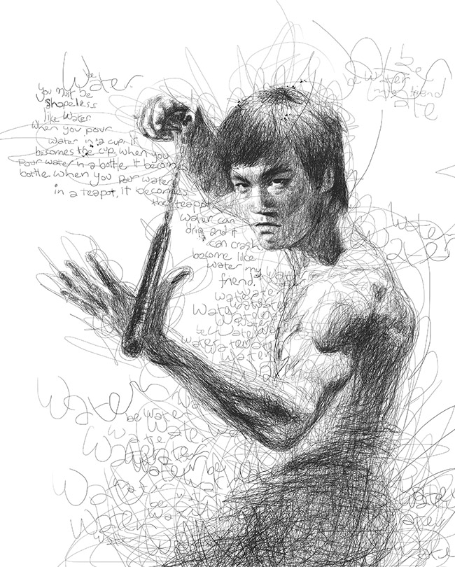Vince Low (Malaysia) - Bruce Lee art collection @ YellowMenace