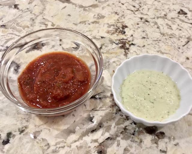 Tomato sauce and Cashew sauce
