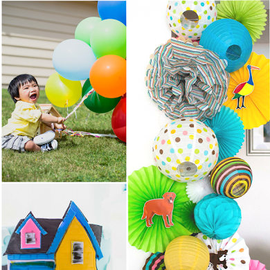 An UP Inspired Balloon 1st Birthday Party