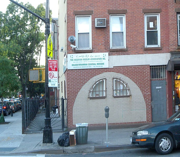 Nigerian Muslim association in Fort Greene, Brooklyn, New York