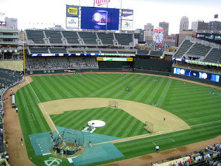 Home to center, Target Field