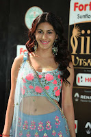 Amyra Dastur in Flower Print Choli Transparent Chunni at IIFA Utsavam Awards019.JPG