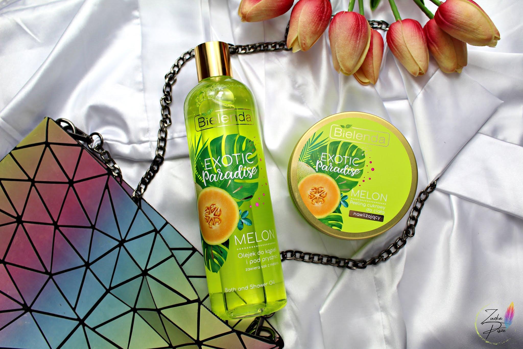 Bielenda Exotic Paradise MELON cukrowy peeling nawilżający i odświeżający olejek pod prysznic