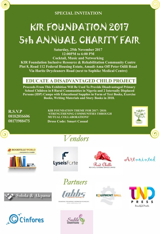 KIR Foundation 5th Annual Charity Fair