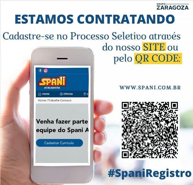 Spani Atacadista está cadastrando currículo para contratação de funcionário para trabalhar na unidade de Registro-SP