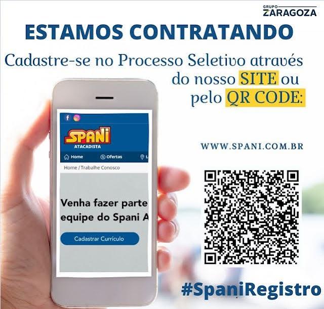 Spani Atacadista está cadastrando currículo para contratação de funcionário para trabalhar em Registro-SP