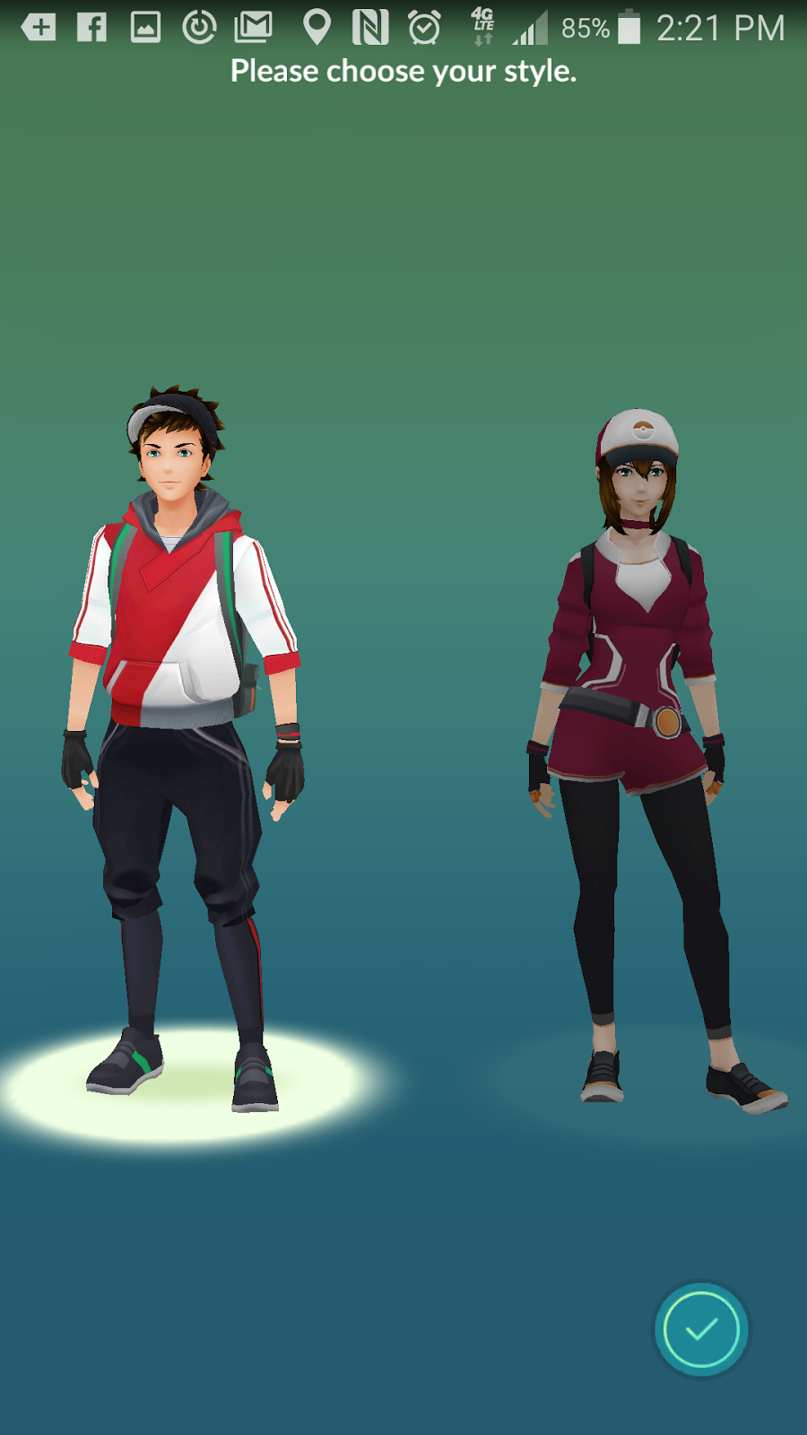 Male and Female characters