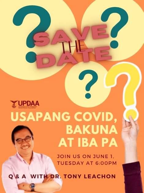 UPDAA: Usapang COVID, Bakuna, atbp... with Dr. Tony Leachon