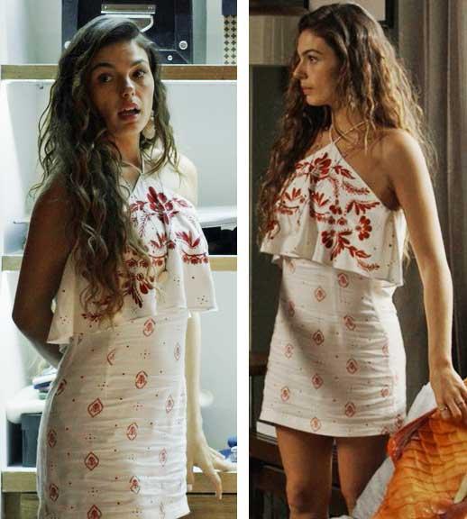Ritinha vestido vermelho