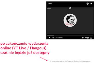 webinar i czat na swojej stronie hangouts youtube live