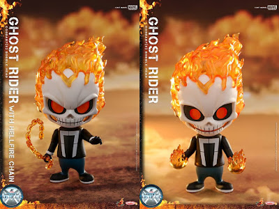 Agents of SHIELD Ghost Rider Marvel Cosbaby Mini Figure Bobble Heads by Hot Toys