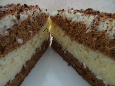 Ciasto z kremem grysikowo kokosowym