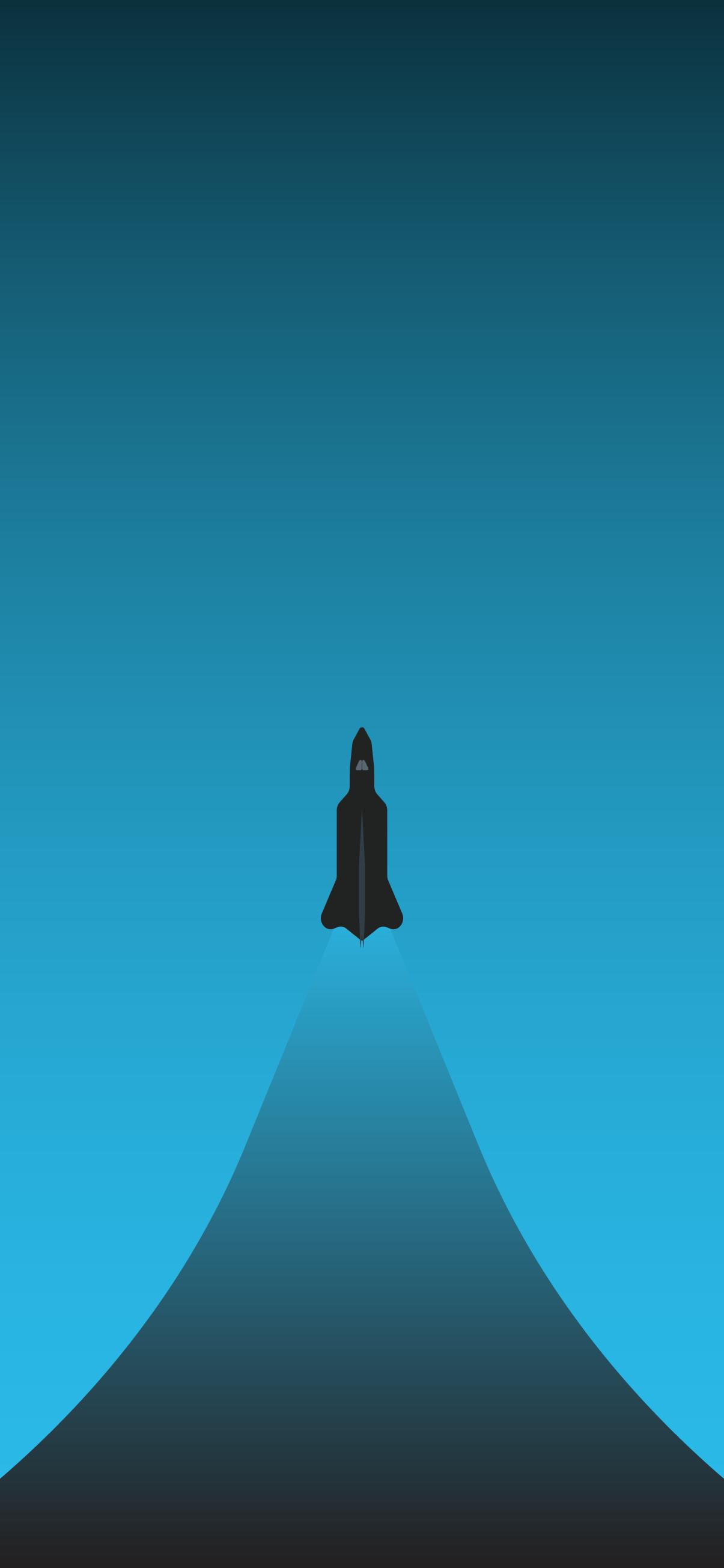 cyan rocket minimal