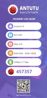 Kirin 990 scores less than Snapdragon 855 Plus AnTuTu Benchmark Test
