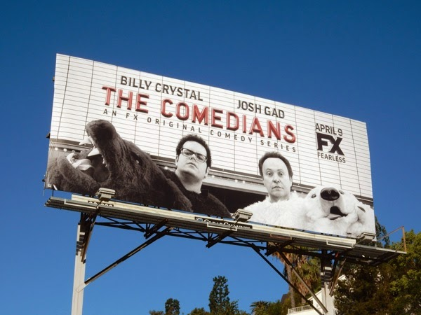 The Comedians series premiere billboard