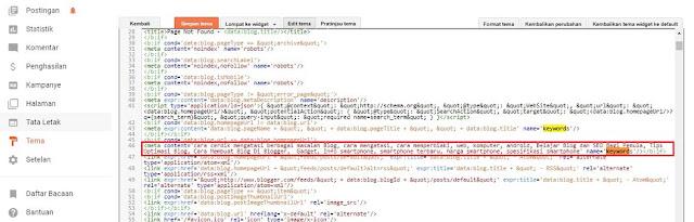 Meta Tag Keyword sudah tidak berlaku lagi untuk SEO blog
