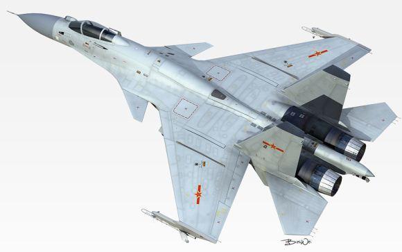 Shenyang J-15 Siluman Langit Dari China