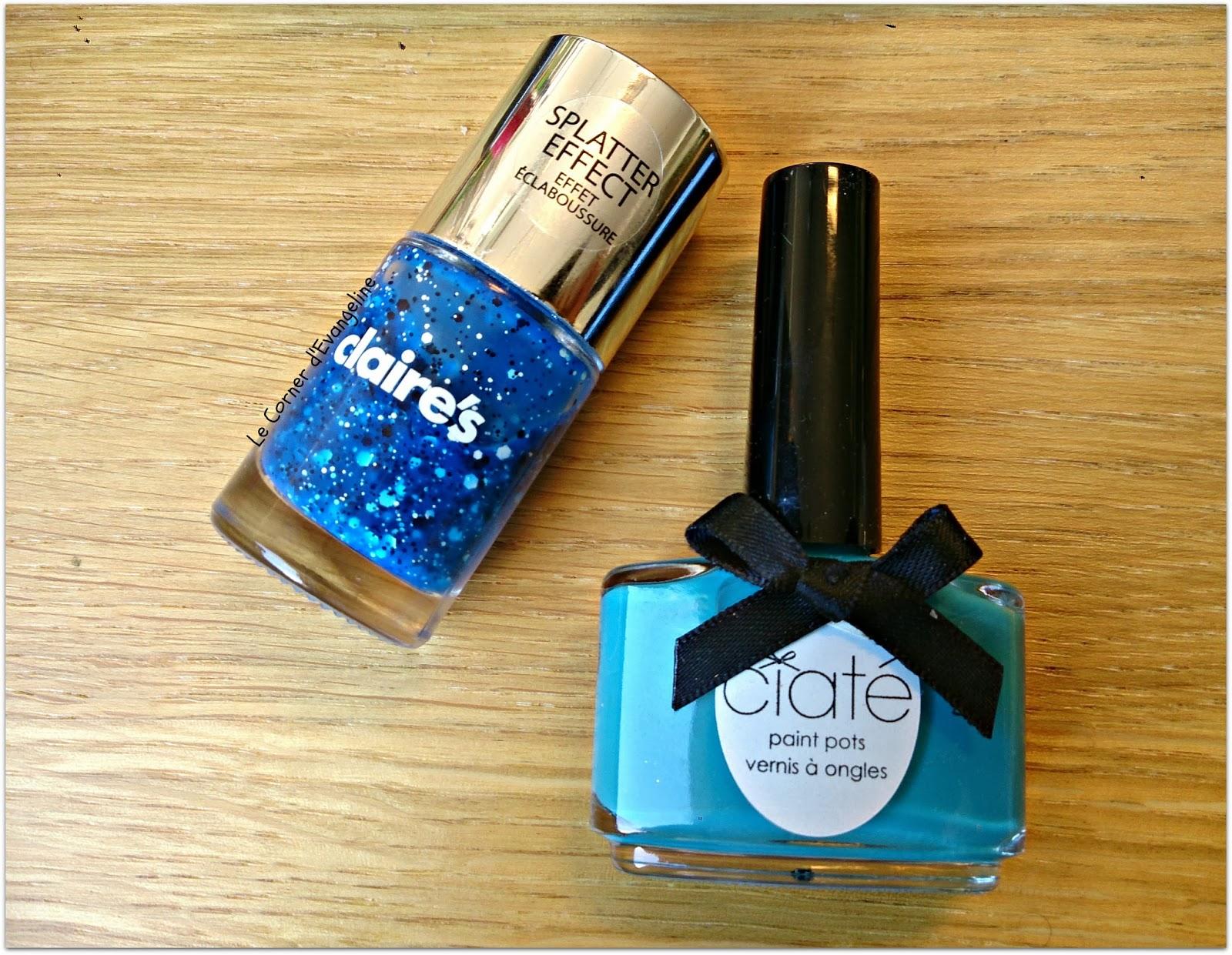 Splatter Blue, Claire's et Headliner de Ciaté