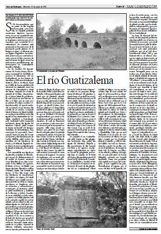 Fañanás: El río Guatizalema
