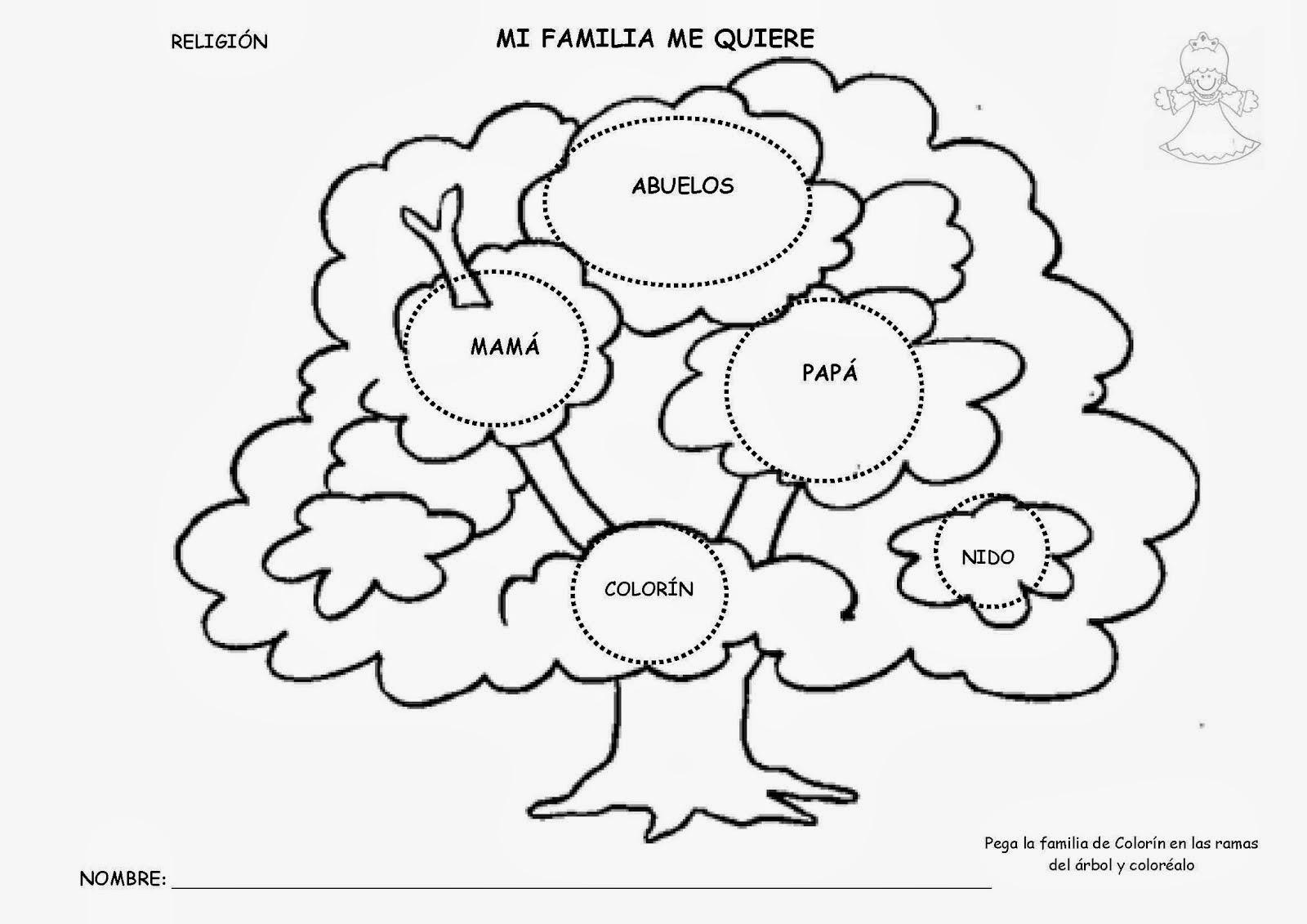 Imagen Para Colorear De Arbol Genealogico