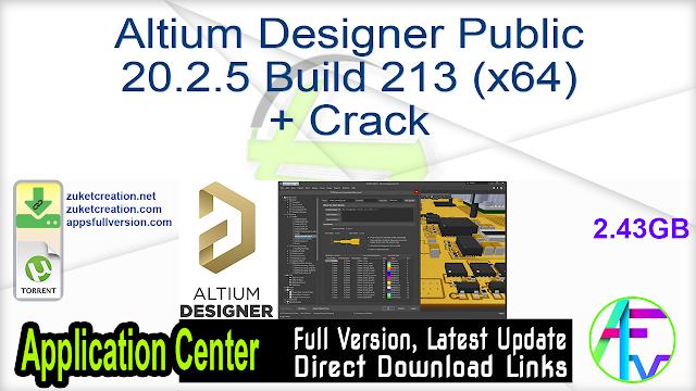 Altium Designer Public 20.2.5 Build 213 (x64) + Crack