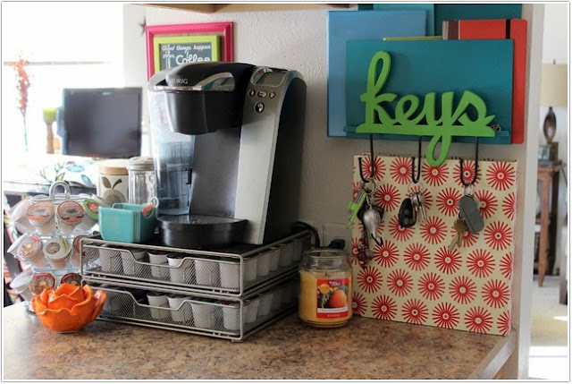 Home Coffee Station Organizer;Coffee Station Organizer;