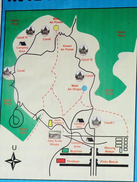 Peta Candi Gedong Songo