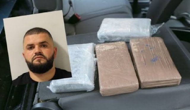 26-year old Albanian in UK sentenced to 12 years in jail after caught with 9.5 kg of cocaine