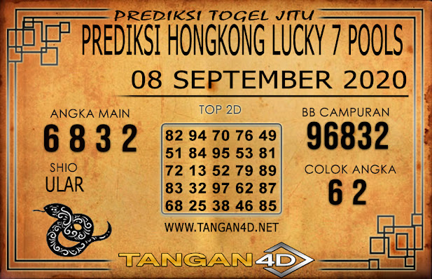 PREDIKSI TOGEL HONGKONG LUCKY 7 TANGAN4D 08 SEPTEMBER 2020