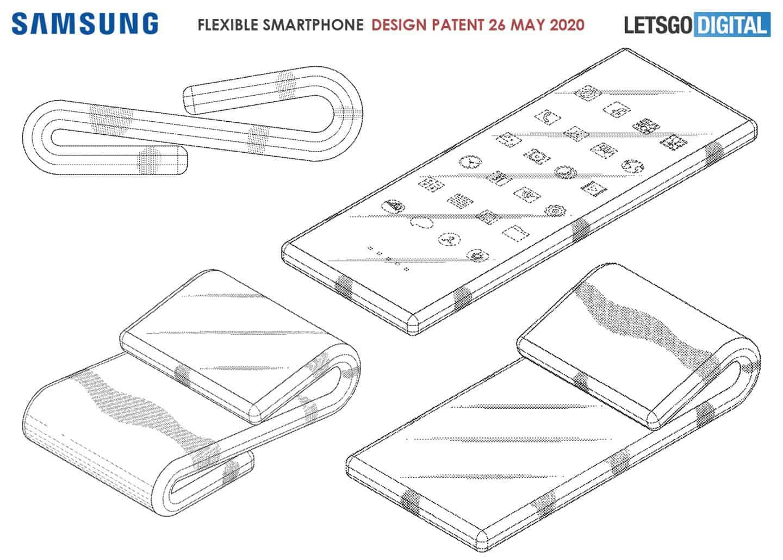 براءة اختراع جديدة من سامسونج تكشف عن هاتف ذكي قابل للطي على شكل حرف Z