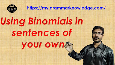 Using binomials in sentences of your own