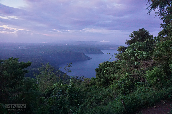 View of Taal Lake and surrounding cliffs